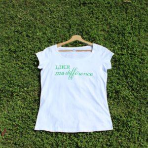 Col Tee-Shirt Like ma différence Femme